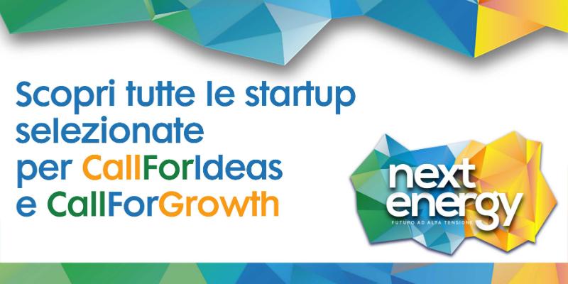 Ecco le startup finaliste della Call for Ideas e della Call for Growth di Next Energy 1